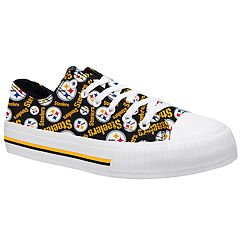 Women's Pittsburgh Steelers Team Logo Canvas Shoes