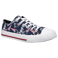 Women's New England Patriots Team Logo Canvas Shoes