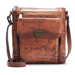 Concept Voyage Map Crossbody Bag