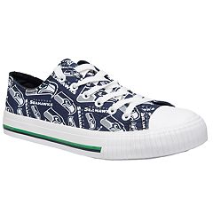 Women's Seattle Seahawks Team Logo Canvas Shoes