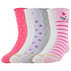 Girls 7-16 Gold Toe 6-pack Critter Crew Socks