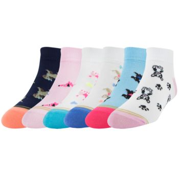 Girls 7-16 GOLDTOE 6-pack Novelty Quarter Socks