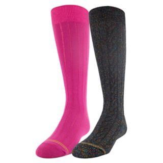 Girls 4-16 GOLDTOE 2-pack Sparkle Cable Knee High Socks