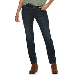 Petite SONOMA Goods for Life™ Curvy Mid-Rise Straight-Leg Jeans