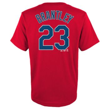 Boys 4-18 Majestic Cleveland Indians Michael Brantley Name & Number  Tee
