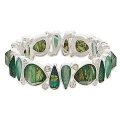 Dana Buchman Green Teardrop Stretch Bracelet