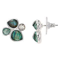 Dana Buchman Green Cluster Stud Earrings