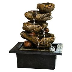 San Miguel Brookside Tabletop Water Fountain Decor