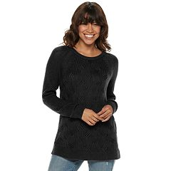 Petite SONOMA Goods for Life™ Twist Cable-Knit Sweater