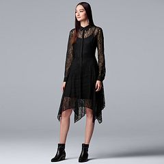 Women's Simply Vera Vera Wang Lace Shirtdress