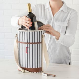 Cathy's Concepts Mongram Striped Wine Cooler