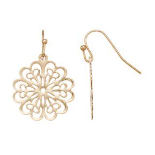 LC Lauren Conrad Nickel Free Filigree Flower Drop Earrings