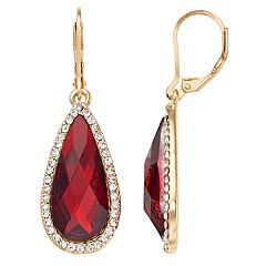 Dana Buchman Simulated Ruby Teardrop Earrings