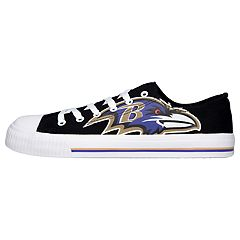 Men's Baltimore Ravens Low-Top Canvas Shoes