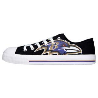 Men's Baltimore Ravens Low-Top Canvas Shoes