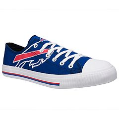 Men's Buffalo Bills Team Logo Canvas Shoes