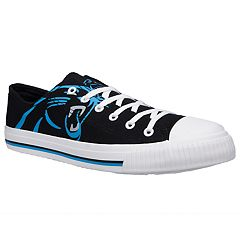Men's Carolina Panthers Team Logo Canvas Shoes