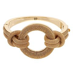 Dana Buchman Gold Tone Mesh Ring Bangle  Bracelet