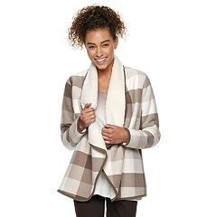 Petite SONOMA Goods for Life™ Supersoft Fleece Sherpa Cardigan