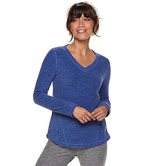 Petite Tek Gear® Long Sleeve Microfleece Top