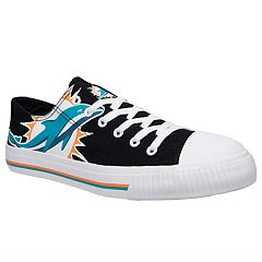 Men's Miami Dolphins Team Logo Canvas Shoes