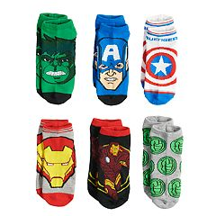 Boys 4-20 Avengers 6-Pack Low-Cut Socks