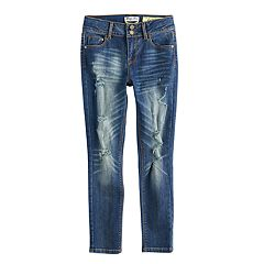 Girls 7-16 Indigo Rein Destructed Skinny Jeans