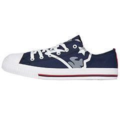 Men's New England Patriots Low-Top Canvas Shoes