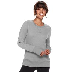 Petite Tek Gear® Fleece Thumb Hole Sweatshirt