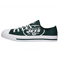 Men's New York Jets Low-Top Canvas Shoes