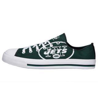 Men's New York Jets Low-Top Canvas Shoes
