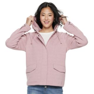 Juniors' Sebby Vintage Fleece Hooded Jacket
