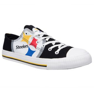 Men's Pittsburgh Steelers Team Logo Canvas Shoes