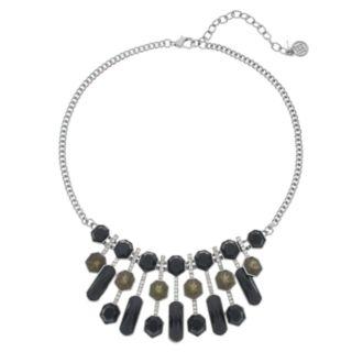 Dana Buchman Black Crystal Collar Necklace