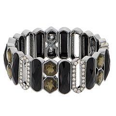 Dana Buchman Black Geometric Stretch Bracelet