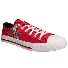 Men's Tampa Bay Buccaneers Team Logo Canvas Shoes