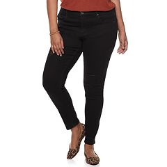 Juniors' Plus Size Mudd® Ripped Low-Rise Jeggings