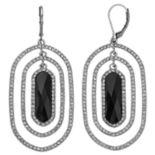 Dana Buchman Black Orbital Drop Earrings