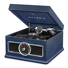 Victrola 5-in-1 Nostalgic Bluetooth Record Player with CD, Radio, Record Storage & 3-Speed Turntable