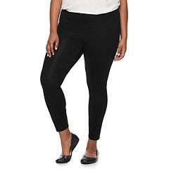 Plus Size Croft & Barrow® Tummy Control Pull-On Leggings