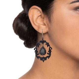 Simply Vera Vera Wang Simulated Stone Teardrop Orbital Earrings