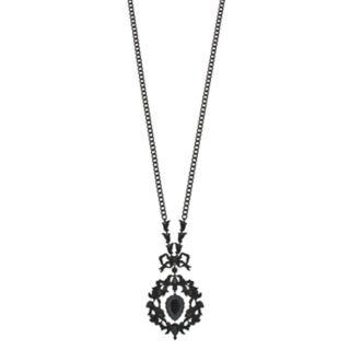 Simply Vera Vera Wang Black Ornate Pendant