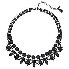 Simply Vera Vera Wang Black Ornate Collar Necklace
