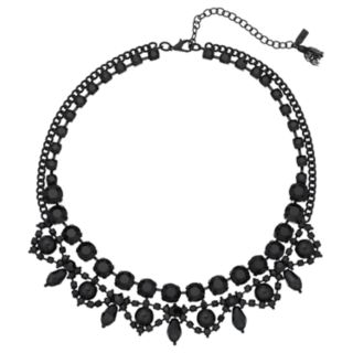 Simply Vera Vera Wang Black Ornate Collar Necklace
