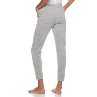 Plus Size SONOMA Goods for Life? Split Cuff Fleece Jogger Pajama Pants