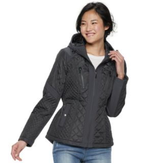 Juniors' Sebby Quilted Hooded Softshell Jacket
