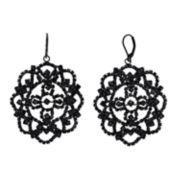 Simply Vera Vera Wang Lace Pattern Simulated Stone Drop Earrings