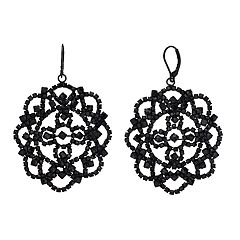 Simply Vera Vera Wang Lace Pattern Simulated Stone Drop Earrings