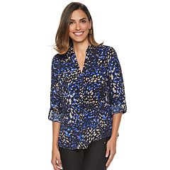Women's Dana Buchman Roll-Tab Camp Shirt
