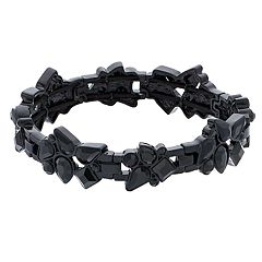 Simply Vera Vera Wang Black Simulated Stone Stretch Bracelet